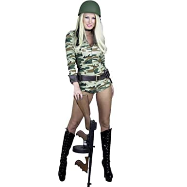 charades sexy womens army military soldier halloween costume