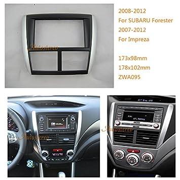 zwnav coche estéreo Radio Fascia Facia panel Kit de montaje completo para Subaru Forester 2008 - 2012, Impreza 2007 - 2012 marco embellecedor de radio: ...