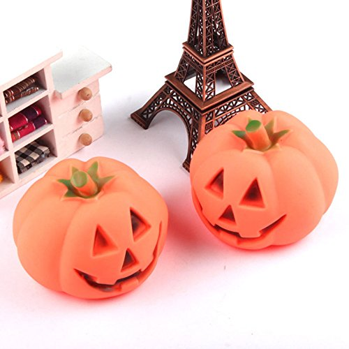 JUNGSON--New Funny Orange Pet Dog Chew Fun Play Toy Halloween Pumpkin