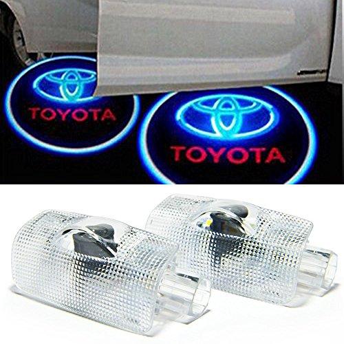 Car Door Projector LED Light HD Shadow Lights for Toyota Avalon Avanza Camry Corolla Crown Highlander Land Cruiser Prius Previa Sequoia Sienna Reiz Prado Tundra Easy Installation (Toyota 3) ()