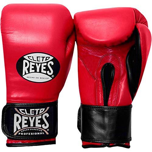 Cleto Reyes Hook & Loop Boxing Training Extra Padding Gloves (Red - Extra Padding, 16 OZ)