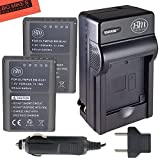 BM Premium 2-Pack Fully Decoded BLN1 Batteries and Battery Charger Kit for Olympus Pen F, OM-D E-M1, OM-D E-M5, OM-D E-M5 Mark II, OM-D E-P5 Digital SLR Camera