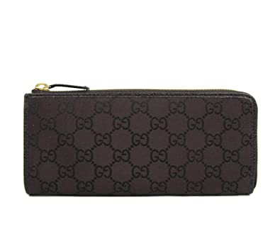 96a195cb732d49 Image Unavailable. Image not available for. Color: Gucci Women's Brown  Monogram GG Nylon Zip Around Wallet ...