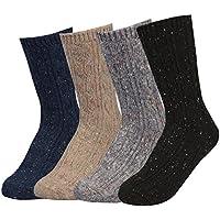 TETIBA Women's Winter Premium Soft Thick Knitting Wool Warm Crew Socks 1 to 4 pack, Size 5 to 9