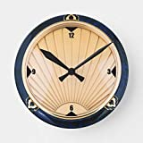 art deco style OSWALDO Art Deco Style Decorative Round Wooden Wall Clock - 12 inch