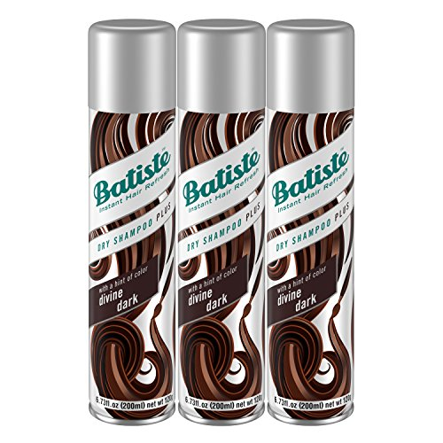 Batiste Dry Shampoo, Divine Dark, 3 Count (Best Hair Dye To Go Lighter)