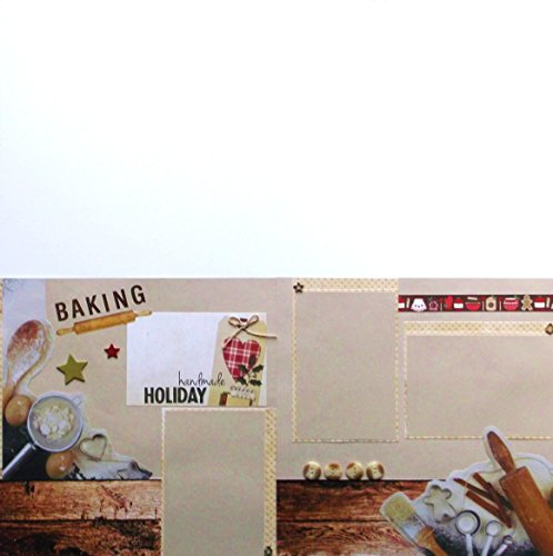 Premade Christmas Layouts - Holiday Baking Christmas (2) Dimensional Scrapbook Pages Premade