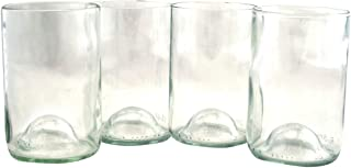 product image for Tumblers Drinking Glasses Made From Recycled Wine Bottles 12 Oz - set of 4 (Clear With Punt, 12 Oz)