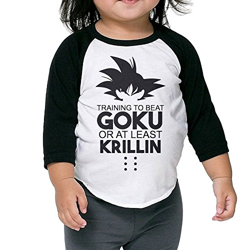 [Caromn Kids Child GOKU Baseball Jersey T-Shirt 3 Toddler] (4 Star Dragonball Costume Color)