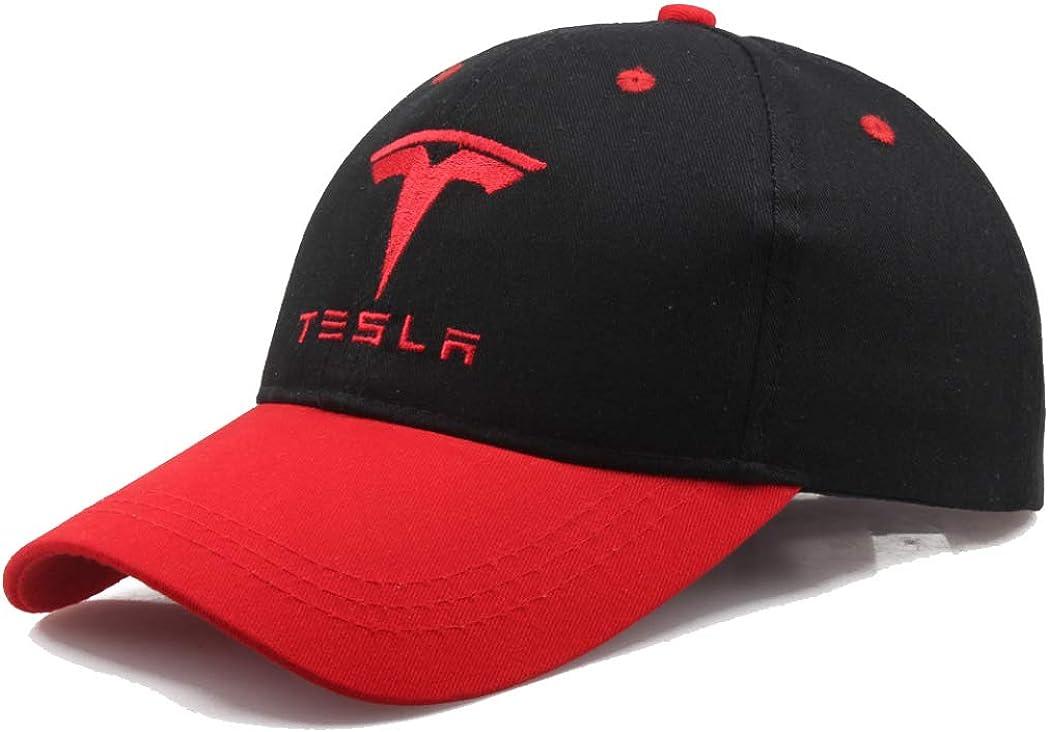 HiiWorld Baseball Cap Tesla car Logo Embroidery Casual Snapback Hat Man F1 Racing Motorcycle Sport hat