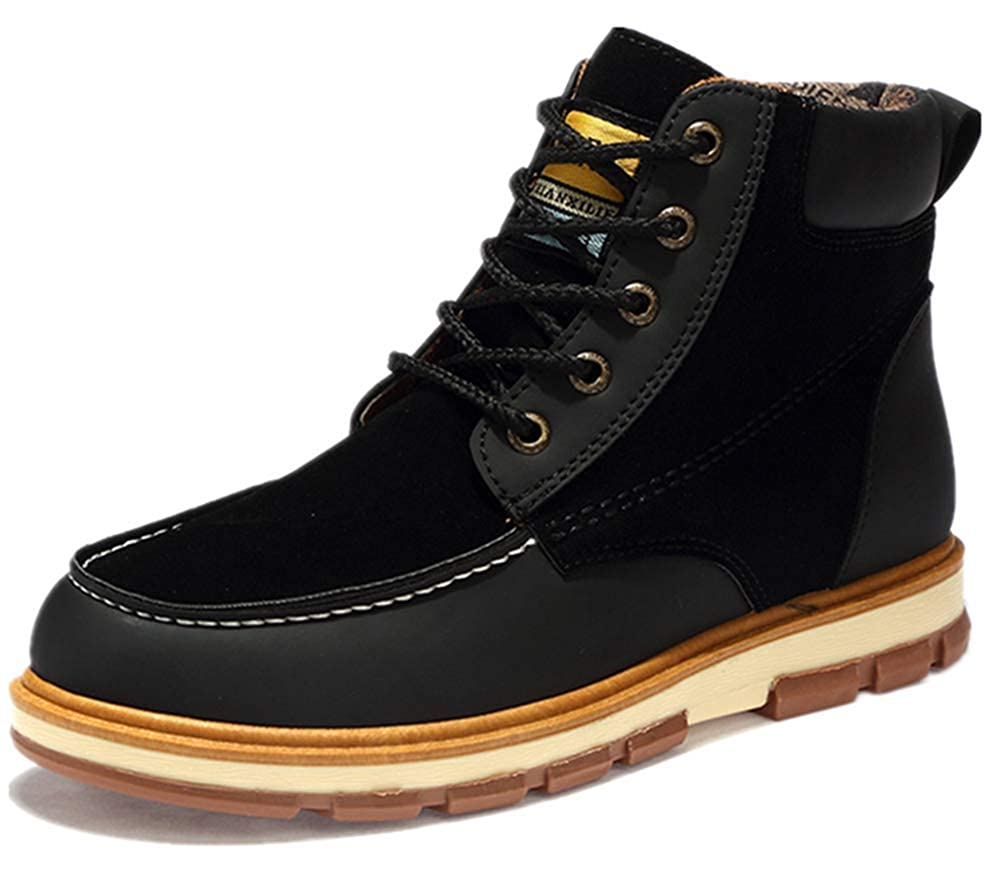 ZHANGHUI top Mens Shoes Large Size Fashion Leather Boots Casual Shoes Tooling Shoes Martin Boots