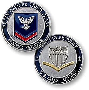 Coast Guard Petty Officer Third Class Challenge Coin by Armed Forces Depot