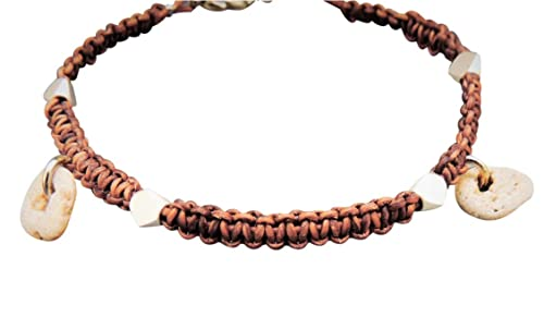 Womens Ankle Bracelet Braided Leather Cord Anklet With Natural Small Hag Stones Amazon Co Uk Handmade See your favorite republic czech and men beaded bracelets discounted & on sale. womens ankle bracelet braided leather
