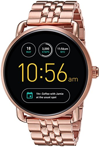 Fossil Q Wander Gen 2 Rose Gold-Tone Stainless Steel Touchscreen Smartwatch FTW2112 by Fossil
