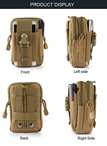 Universal Outdoor Tactical Holster Military Molle Hip Waist Belt Bag Wallet Pouch Purse Phone Case with Zipper for iPhone 7 - Fendi Duffel