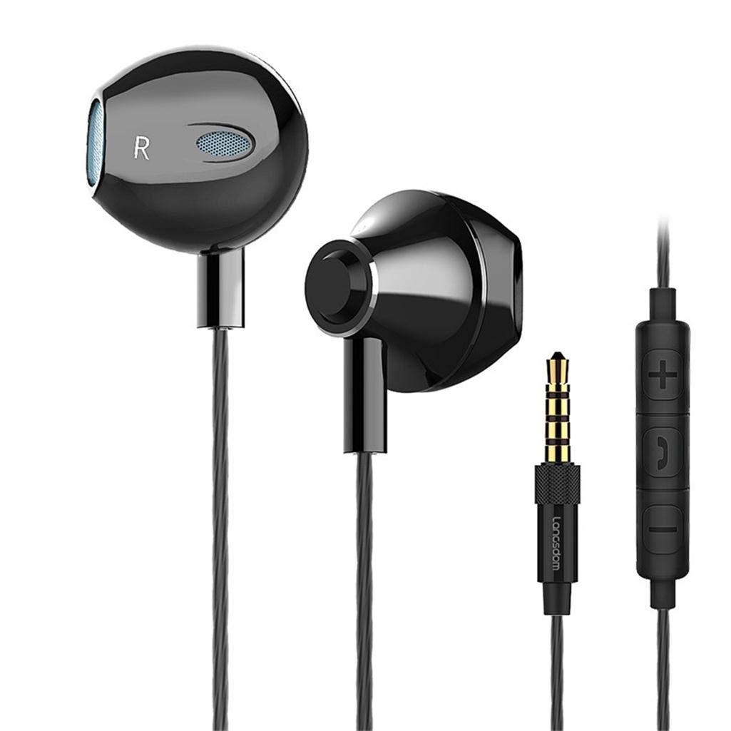 Bass Headphones in Ear Earbuds Earphones with Microphones and Volume Control Hi-Fi Headsets for Samsung iPhone Android with 3.5mm Jack