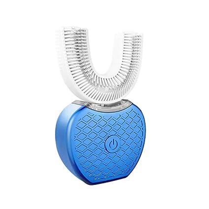 Cepillo de dientes eléctrico recargable de silicona eléctrica de 360 grados con base de carga inalámbrica