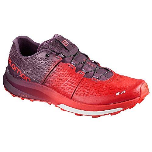 Salomon Unisex S-Lab Sense Ultra 2 Running Trail Shoes Racing Red/Maverick / White 9