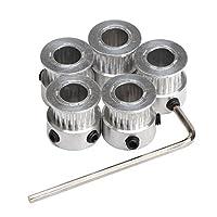 DROK Aluminum GT2 Timing Belt Pulley & Timing Belt by DROK