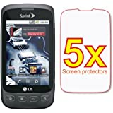 5x LG Optimus S LS670 Premium Clear LCD Screen Protector Shield Cover Guard Film Kit