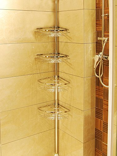 Leapair Tension Shower Caddy 4 Tier Adjustable Bathroom