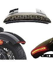 LED Tail Light, ACUMSTE Luces Traseras de Motocicleta High Mount Stop Warning lámpara universal ParaHarley Sportster XL883 N 1200 N XL1200 V XL1200 X