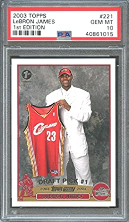 Amazoncom 2003 04 Topps 1st Edition 221 Lebron James