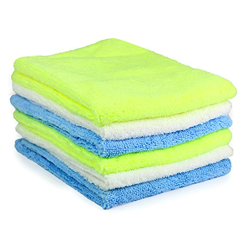 Multi Purpose Microfiber Cleaning Cloth Towel / Drying Cloth Towel, Assorted Colors - 6 Pack