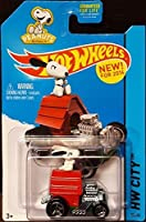 2014 Hot Wheels Snoopy with Dog House Car Peanuts Charlie Brown Charles Schulz * Vehicle