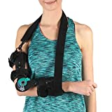 Soles Hinged Elbow Brace (Right Arm) - Support Post Op Injury Recovery, Rom Orthosis - Adjustable Range of Motion - One Size Fits All - Unisex