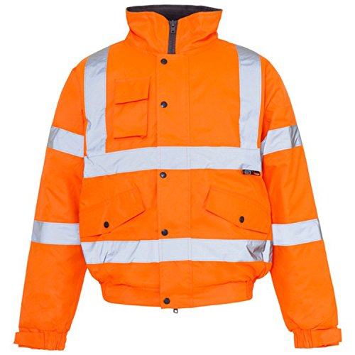 Forever Mens Rainsuit Hi Viz Waterproof Storm Jacket Workwear Security Coat