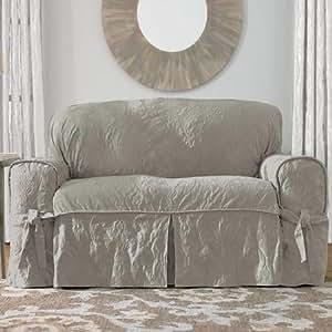 Sure fit matelasse damask funda para sof - Funda sofa blanca ...