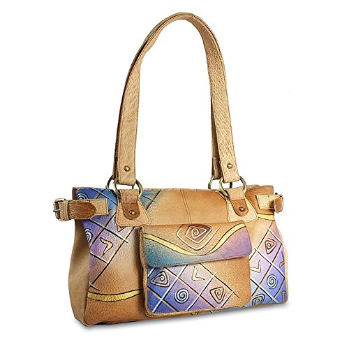 Greenland Art + Craft Shopper Tasche Leder 34 cm Bunt