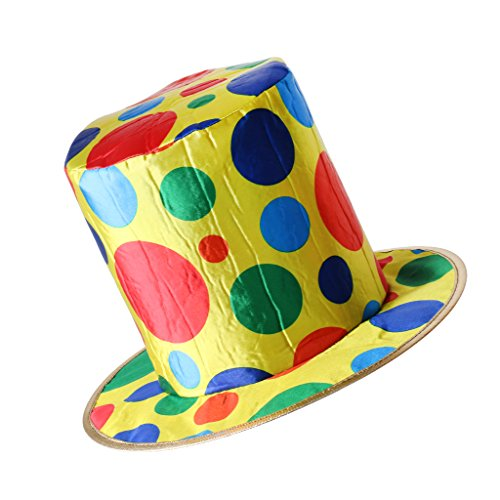 Polka Dot Circus Costume (Jili Online Adult Woman Man Polka Dot Top Hat Clown Circus Halloween Fancy Dress Accessory Birthday Party Supplies Halloween Carnival)