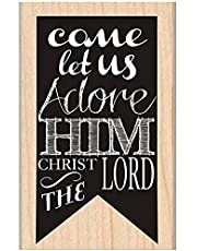 """MSE Adore Him Banner My Sentiments Exactly Mounted Stamp, 2"""" by 3.25"""""""