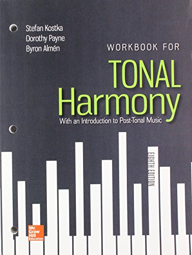 Workbook for Tonal Harmony with Connect Access Card