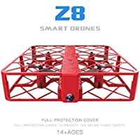 Leewa Z8 RC Mini Drone 0.3MP Wifi 2.4G 6AXIS Altitude Hold UFO Quadcopter Pocket Drone (Red)