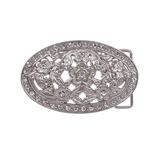Engraved Silver Plated Oval Antique - 1 1/2
