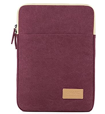 Kinmac Canvas Vertical Laptop Sleeve With Pocket