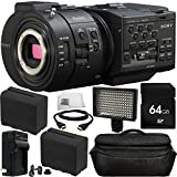 Sony NEX-FS700R Super 35 Camcorder (Body Only) 64GB Bundle 10PC Accessory Kit. Includes 64GB SD Memory Card + 2 Replacement F970 Batteries + MORE