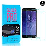 Galaxy J7 DUO Tempered Glass Screen Protector, Bear Village® 9H Scratch Resistant HD Screen Protector Film for Samsung Galaxy J7 DUO - 2 PACK