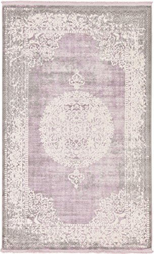 Cheap  Vintage Castle Collection Rugs Purple 5' x 8' FT Area Rug -..
