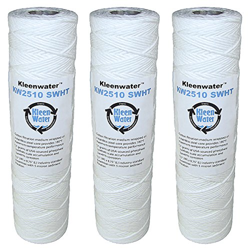 kleenwater-high-temperature-water-filters-25-x-975-inch-string-wound-cartridges-stainless-steel-core