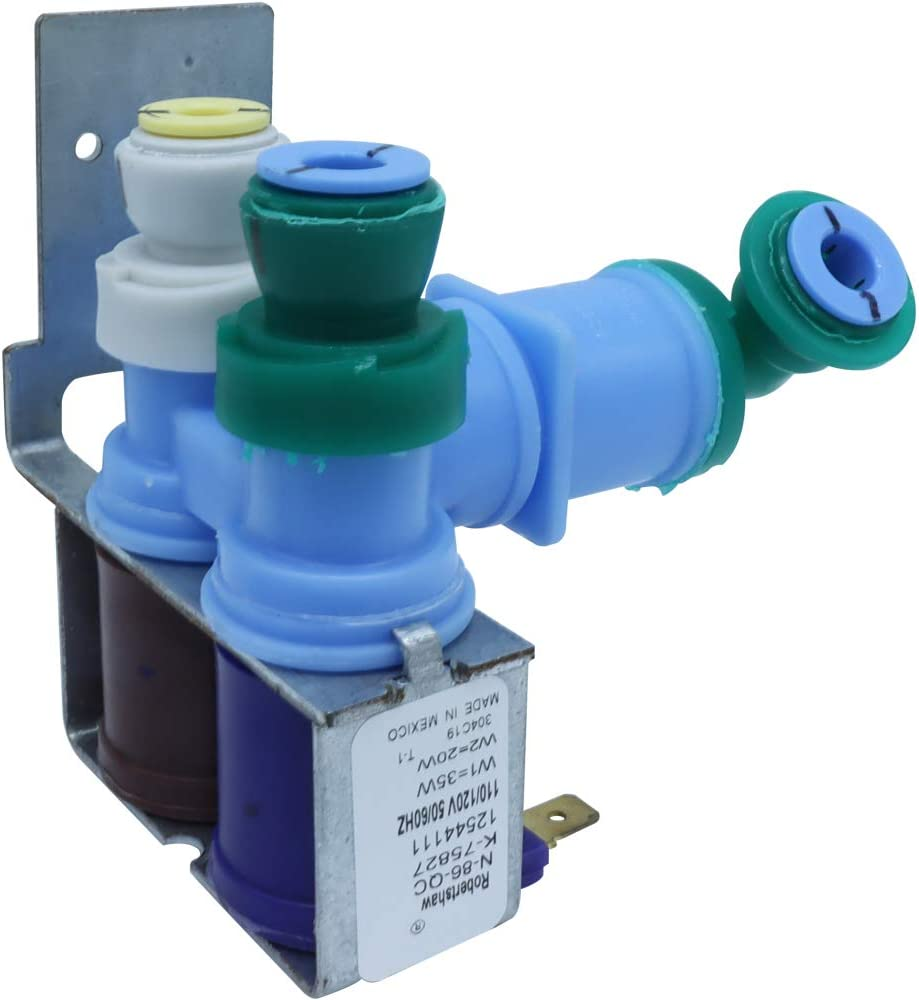 OEM Mania Original Version 12002193 Refrigerator Water Inlet Valve replaces 12544102 67001726 67003659 PS2003637