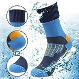 RANDY SUN 100% Waterproof Camping Socks, Running Socks Unisex Keeps Feet Cool & Dry Blue Black