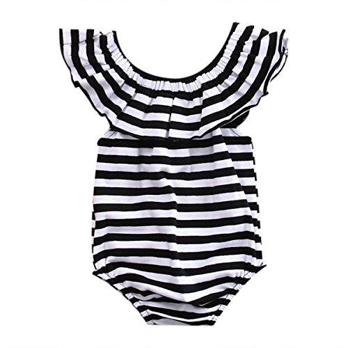 Cotton Newborn Baby Girl Striped Romper Bodysuit Jumpsuit Sunsuit Clothes Outfits 0-24M