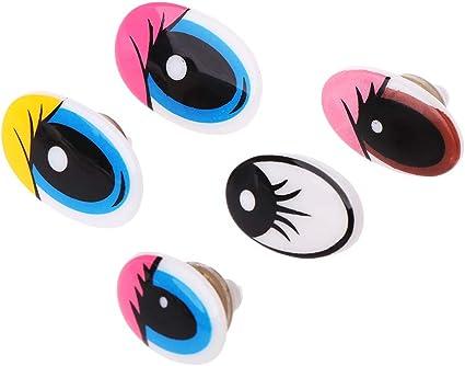 10x Plastic Safety Eye Eyes Eyelash Back for Bear Animal Toy Craft