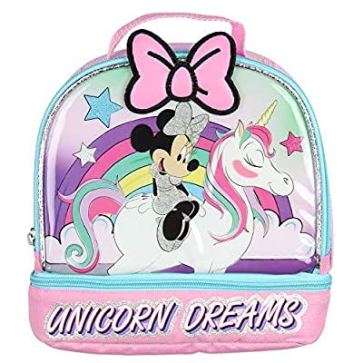 Disney Minnie Mouse Lunch Box Unicorn Dreams Dual Compartment Dome Lunch Kit: Kitchen & Dining