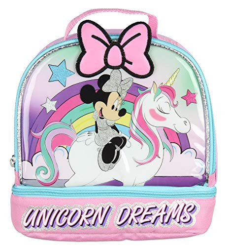 Disney Minnie Mouse Lunch Box Unicorn Dreams Dual Compartment Dome Lunch Kit