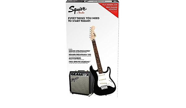 Fender Squier Stratocaster SSS Pack Black + Frontman 10G: Amazon.es: Instrumentos musicales